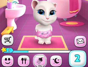 Скачать игру Моя говорящая Анджела (My Talking Angela) для Android
