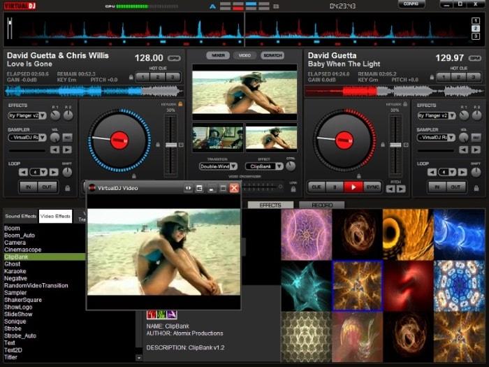 Эмуляции винила в Virtual DJ Home